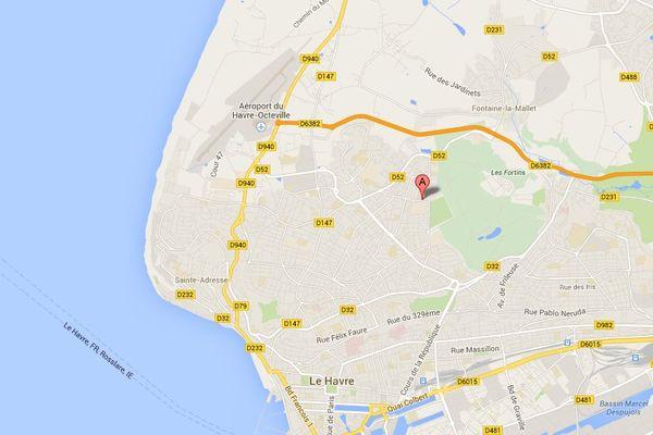 Les attaques du pitbull ont lieu lieu à proximité de la rue des Ponts, dans le quartier du Bois de Bléville, sur les hauteurs du Havre.