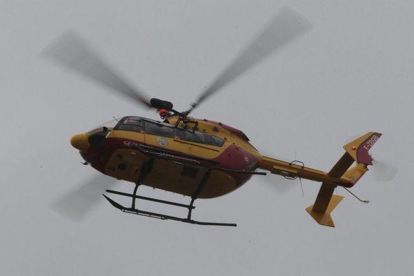 L'hélicoptère s'est écrasé pour une raison encore inconnue. Image d'illustration.