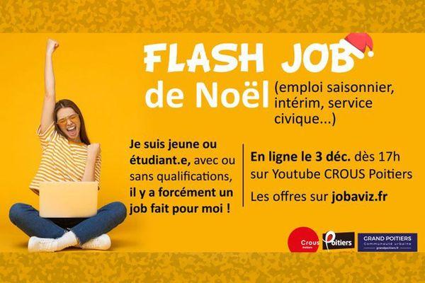 Affiche Flash Job de Noël le 3 décembre à 17h