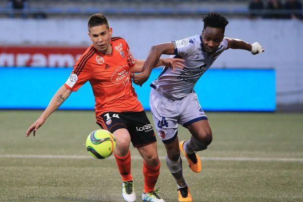 Lorient a gagné contre le GFCA 1-0 , samedi 14 mai 2016.