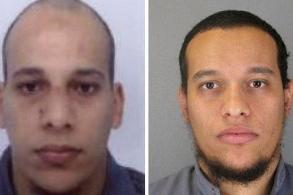 Cherif Kouachi (g) et son frère Saïd Kouachi (d), recherchés pour l'attentat contre Charlie Hebdo