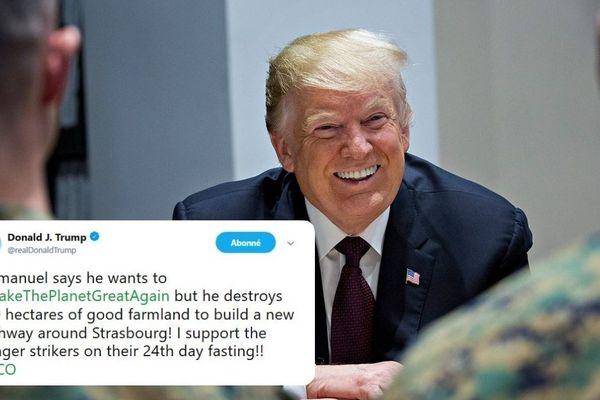 Un faux-tweet du président américain lui fait prendre position contre le grand contournement ouest de Strasbourg (GCO).