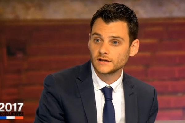 Damien Adam, député LREM lors des élections législatives sur France 3