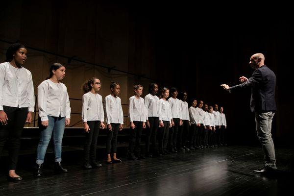 Répétition d'une chorale à Bondy en septembre 2018