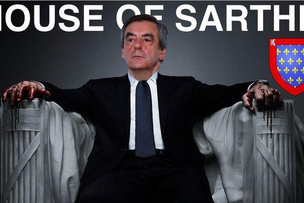 Sur l'affiche de House of Cards, François Fillon vole la vedette à Kevin Spacey