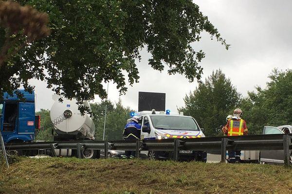 Accident sur l'autoroute A20 à Limoges