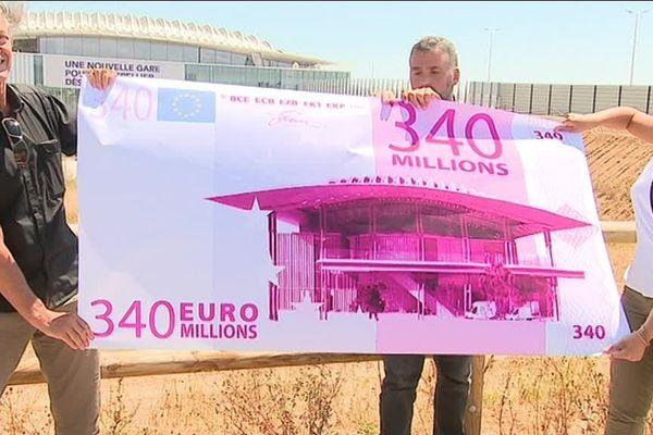 Les élus écologistes dénoncent le coût de la gare TGV Sud de France et des équipements du quartier Cambacérès prévus à proximité.
