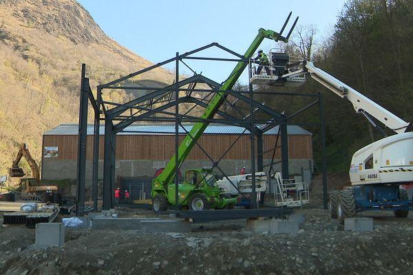 Barèges (Hautes-Pyrénées) - Les travaux de l'abattoir devraient s'achever fin 2021.