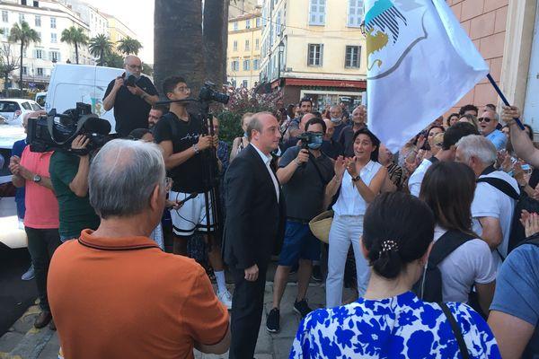 """Tête de la liste """"Un soffiu novu"""", Laurent Marcangeli arrive deuxième du scrutin en augmentant son score du premier tour. Le maire d'Ajaccio siégera pour la première fois sur les bancs de l'Assemblée de Corse."""