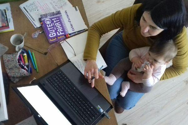 Julie avec sa fille Louise