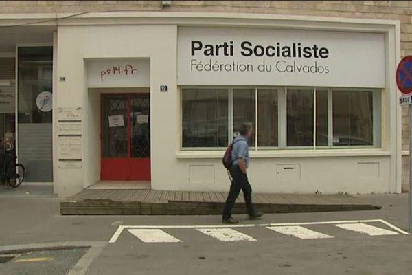 Le siège du parti socialiste, rue Paul Toutain, à Caen
