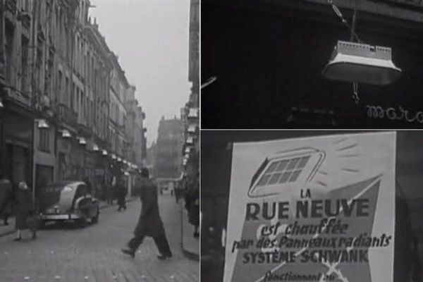 La rue Neuve à Lille chauffée ! En 1954. / © INA