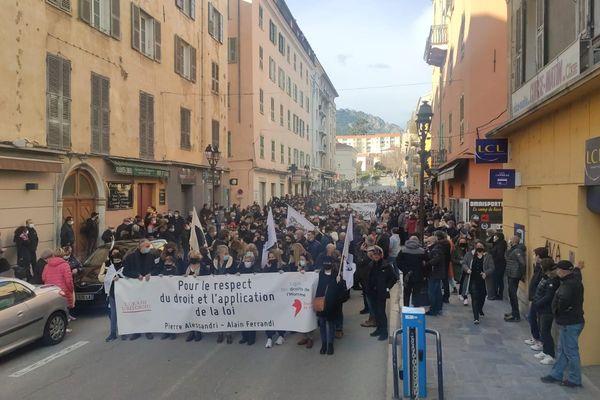 La manifestation est partie de la Place Padoue pour rejoindre la Place Paoli.