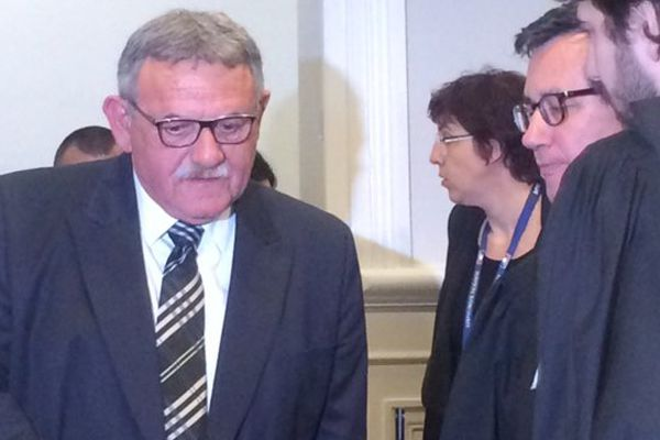 René Marratier ce matin au tribunal de Poitiers.