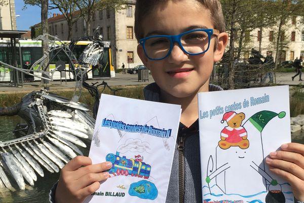 Romain Billaud jeune écrivain vendéen de 8 ans