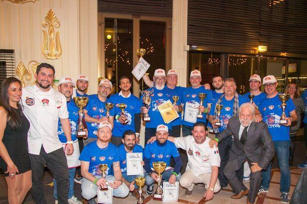 Les heureux gagnants de l'European Cup Pizza 2019 à Menton ce lundi 11 Mars !