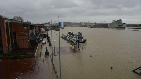 Crue de la Seine à Rouen, le 10 février 2020