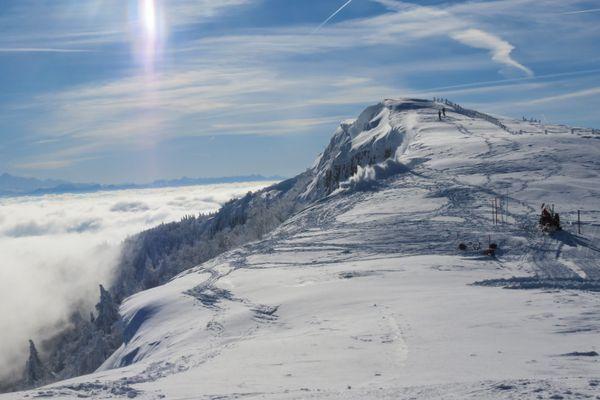Métabief, station de ski située dans le Haut-Doubs, en Franche-Comté.