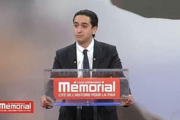 Gaspard Cuenant, étudiant à Montpellier, vainqueur du prix des droits de l'homme au concours de plaidoiries du Mémorial de Caen - 30 janvier 2016
