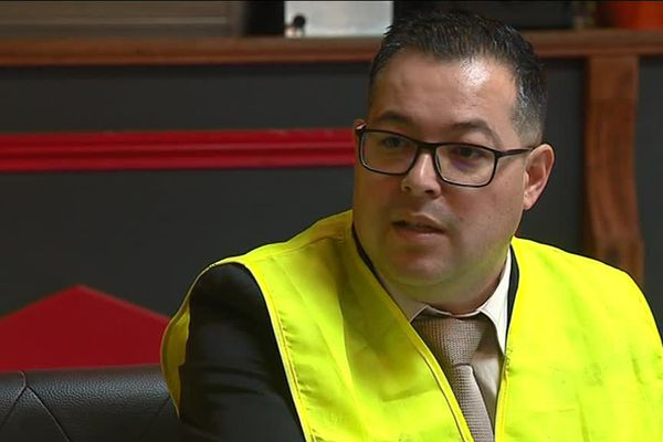 "David Tan, représentant nantais du collectif ""Gilets jaunes libres""."