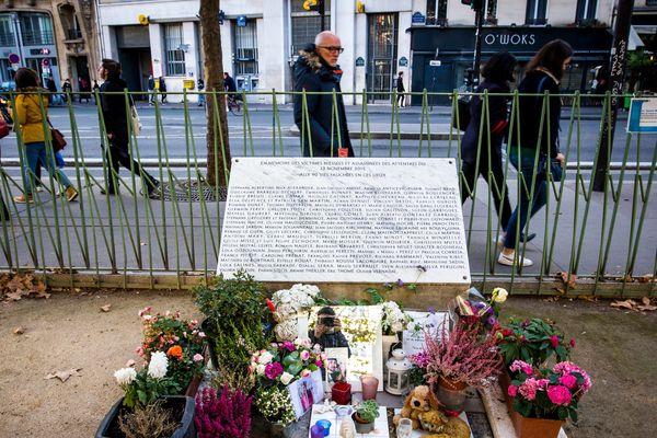 Hommage aux victimes des attentats du 13 Novembre.