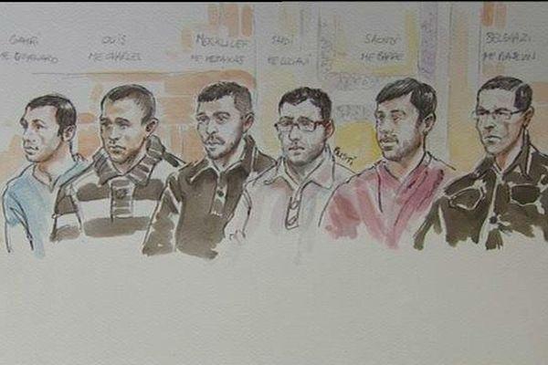 Les six accusés- Lyon le 16/09/2014