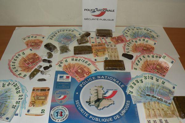"""Les """"produits"""" du démantèlement d'un trafic de drogue en début de semaine à Limoges."""