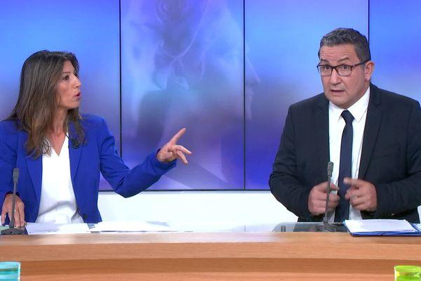 La journaliste de France 3 Provence Alpes Nathalie Ramirez et Didier Garcia (Divers centre).