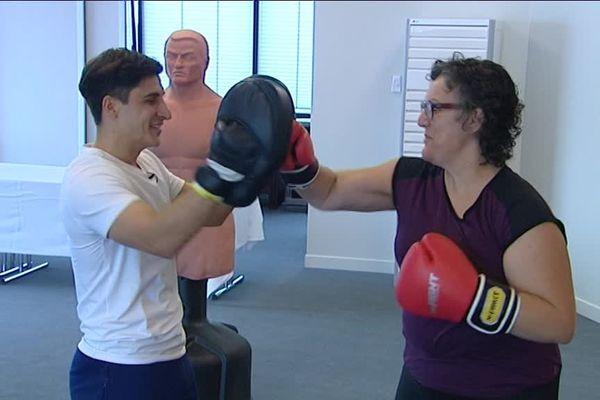 Programme de boxe adaptée au centre Paul Strauss
