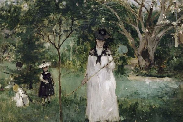 La chasse aux papillons - Berthe Morisot - Huile sur toile (1874) - Musée d'Orsay - Paris