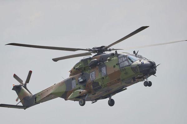 Un hélicoptère Caïman en intervention.