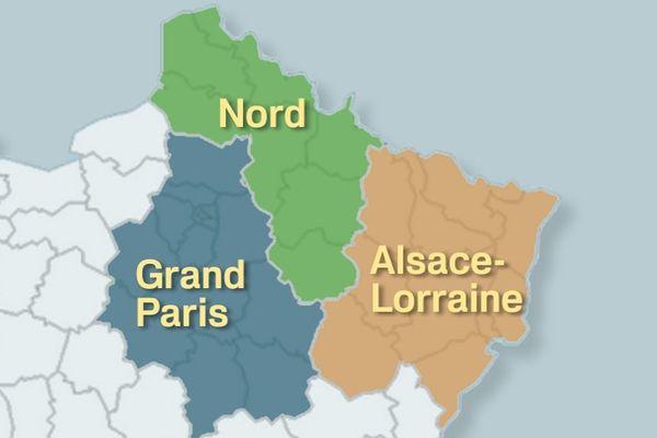 Proposition de 3 nouvelles Régions pour le grand Est (Nord, Grand Paris, Alsace-Lorraine)