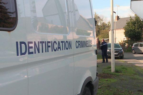 Véhicule de la cellule d'identification criminelle de la gendarmerie, le 8 novembre 2020.