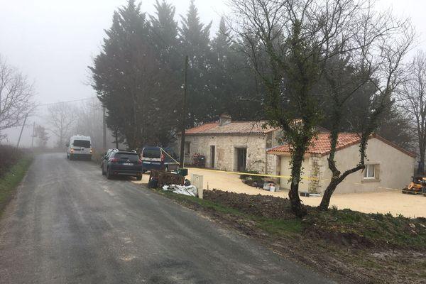 La maison où s'est produit le drame ce jeudi 31 décembre au soir.