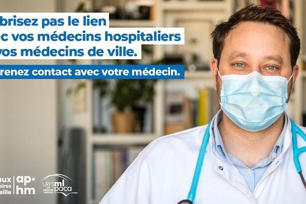 L'URPS médecins libéraux PACA et l'APHM lancent une campagne de sensibilisation pour inciter au retour aux soins.