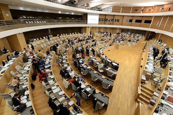 L'hémicycle du Conseil Régional Auvergne-Rhône-Alpes