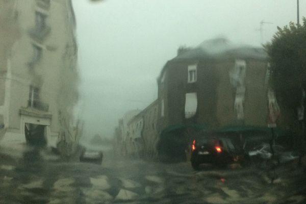 Illustration : orages à Nantes, associés à de fortes pluies