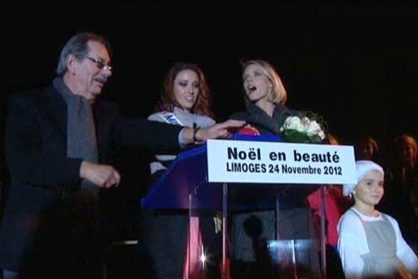Le maire de Limoges a donné le coup d'envoi de Noël en beauté en présence des candidates au titre de Miss France 2013