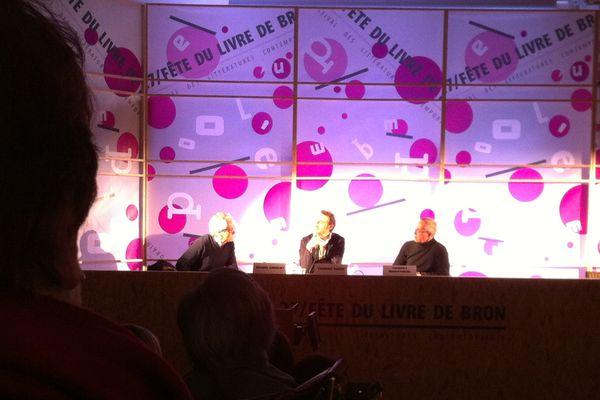 Rencontre entre Thierry Hesse et Thierry Beistingel,samedi à la fête du livre à Bron