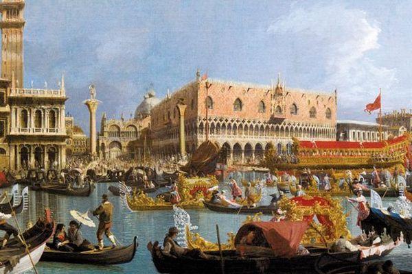 Venise - Le Bucentaure de retour au môle