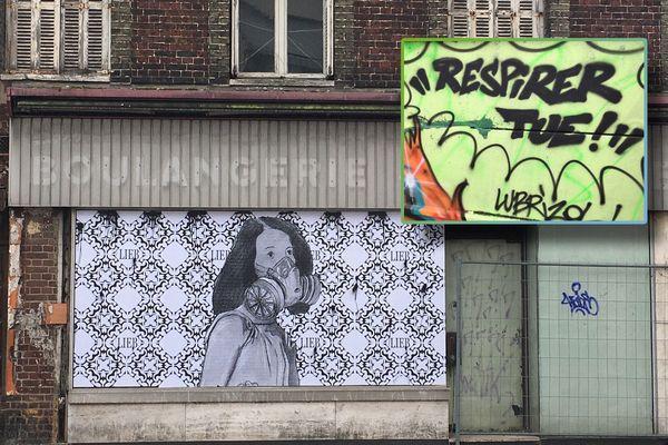 Rouen-Novembre 2019. Un collage de Gaspard Lieb et un graf Lubrizol