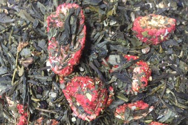 Thé vert baies rouges et basilic. Maison Emile Auté