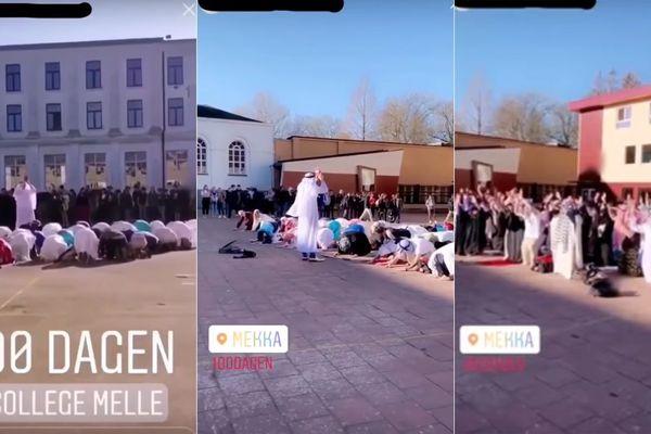 Des images extraites des vidéos du carnaval de Melle publiées sur les réseau sociaux