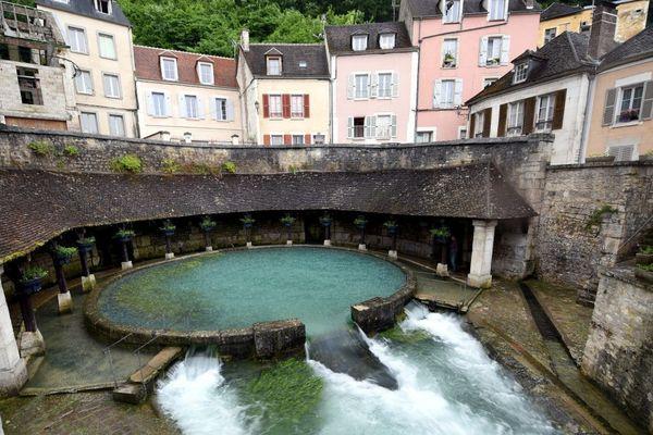 La Fosse Dionne lors des inondations de juin 2016 à Tonnerre, dans l'Yonne