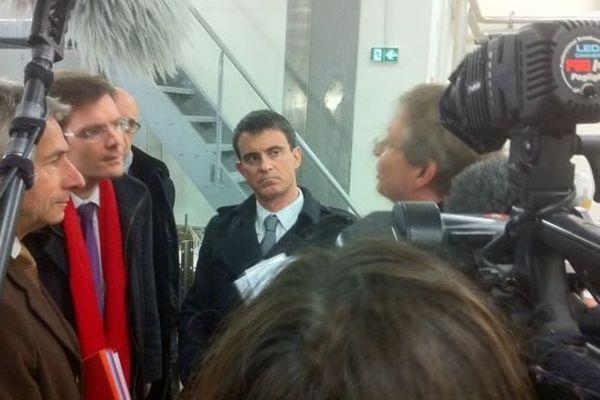 Manuel Valls en visite au GANIL le vendredi 13 février 2015.