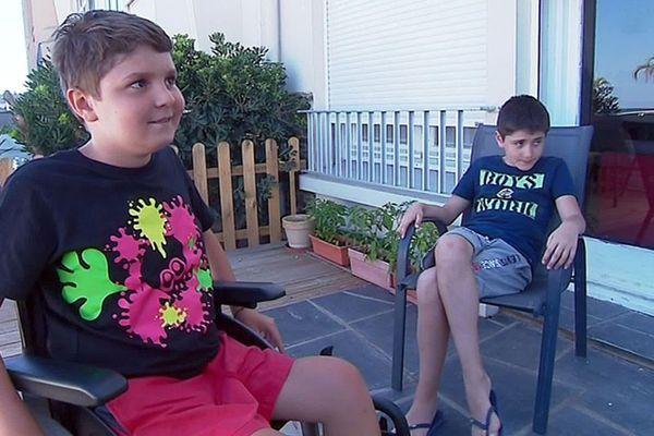 Canet-en-Roussillon (Pyrénées-Orientales) - Martin 12 ans, a récupéré son fauteuil roulant volé alors qu'il se baignait - 15 juillet 2019.