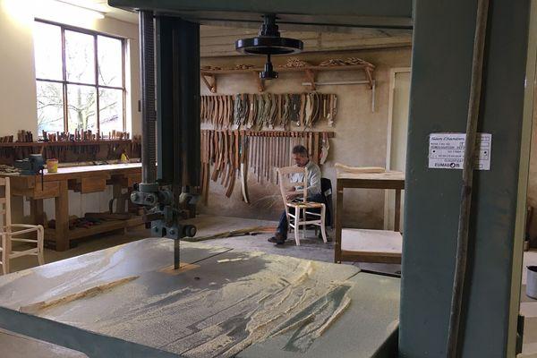 L'atelier de dernier Jean-Marie Pongan dernier chaisier de Franche-Comté