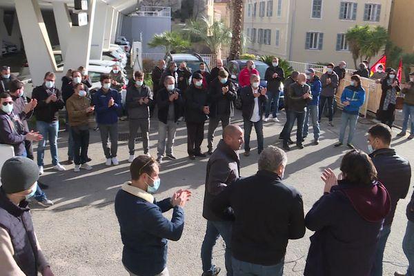La CGT-Energie s'est mobilisée ce jeudi 11 février à Ajaccio. Objectif : obtenir le maintien d'Engie en Corse.
