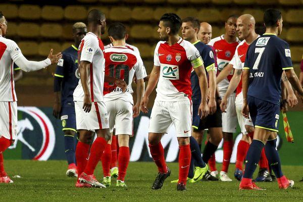 Monaco s'est qualifié face à Lille au stade Louis II