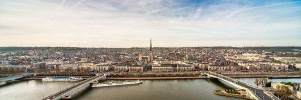 Panorama sur Rouen et sa cathédrale